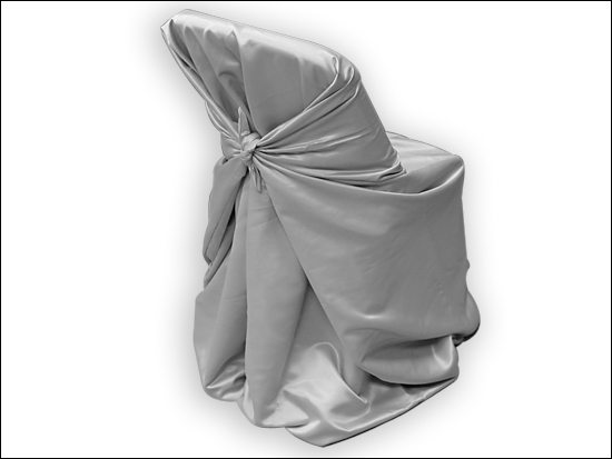 Grey Satin Chair Cover