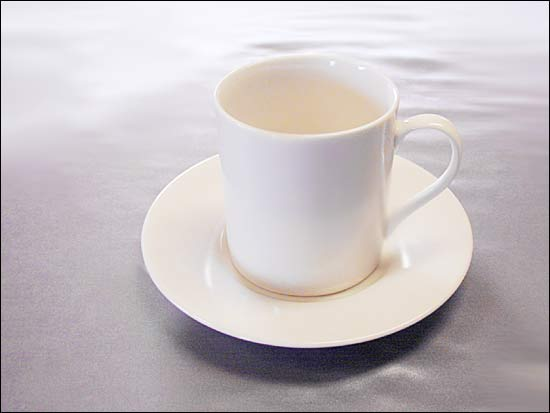 White Coffe Cups and Saucers